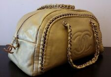 AUTHENTIC CHANEL GOLD LEATHER JUMBO LIGNE BOWLER BAG RRP $3280 AU