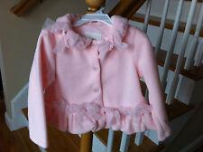 NWT BISCOTTI BABY GIRLS PINK FLEECE COAT JACKET size 4T KATE MACK