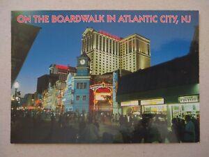 US BoardWalk in ATLANTIC CITY NJ  Postcard , Trump/Caesar/Ballys , New