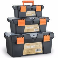 "VonHaus Tool Box Storage Set of 3 Organiser Trays 10"" 13"" 16"" Nuts Bolts Screws"