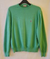 Mens Vintage River Woods Green Cotton Jumper L 44-46 Large Sweater USA Retro 90s