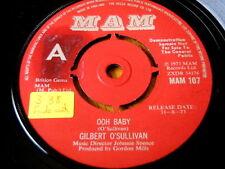 """Gilbert O 'Sullivan-Ooh Bebé demostración de vinilo de 7"""""""