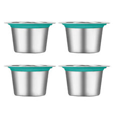 4Pcs Reusable Coffee Capsules Stainless Steel Refillable Pod Cups for Nespresso