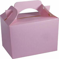 20 Baby Pink Party Boxes - Food Loot Lunch Cardboard Gift Wedding/Kids