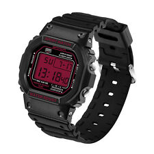 Men Stainless Steel LED Digital Date Alarm Waterproof Sports Military Army Watch