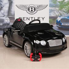Bentley Kids Ride On Power Wheels Car RC Remote 12V Battery Glossy Black
