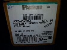 Panduit Copper Lug Slotted Two Hole LCC6-10ABW-L (50 pieces)