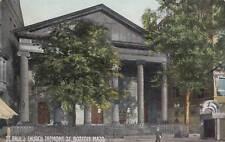 Antique POSTCARD c1910 St. Paul's Church Tremont St. BOSTON, MA 17752