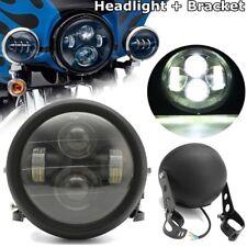 "Durable 7"" Motorcycle Headlight LED Turn Signal Light+Mount Bracket 12-60V"
