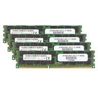 4pcs for Micron 16GB PC3-12800R DDR3 1600Mhz RAM REG-DIMM ECC SERVER Memory @ST