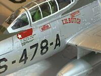 BUILT PAINTED PLASTIC F-84 Thunderjet 1/48