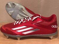 Adidas Adizero Afterburner Metal Baseball Cleats Size 12.5 Red Men's New S84700