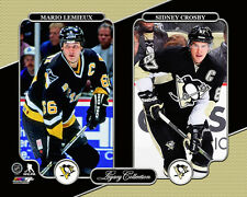 SIDNEY CROSBY and MARIO LEMIEUX Pittsburgh Penguins LEGACY Premium POSTER Print