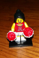 LEGO Series 8 Red Cheerleader Pom Pom Minifigure - 100% Complete NEW but Open