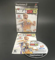 🔥NBA 2K10 - Playstation 2 PS2 - Complete - Kobe Bryant- *VG DISC* TESTED🔥