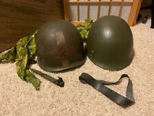 Vintage Vietnam Era Us Military M-1 Helmet with liner and Reversible Camo Cover