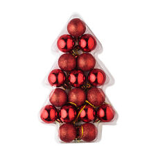 Adornos de plástico de color principal rojo para árbol de Navidad