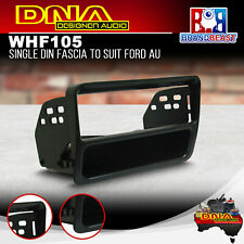 DNA WHF105 Single DIN Fascia Panel to Suit Ford AU Black