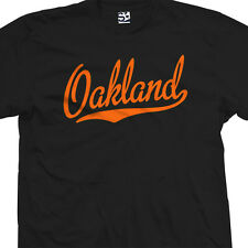 Oakland Script Tail Shirt - Oaktown OAK O-Town Sports Team - All Sizes & Colors