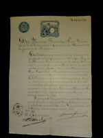 Philippines antique 1893 manuscript hacienda certificate with official seal