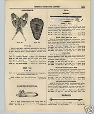1927 PAPER AD Strand Hickory Snow Skis Shoes Toboggans Imperial Croquet Sets