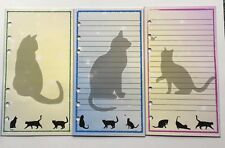 Filofax Personal Organiser Planner Paper - Beautiful Cat Notepaper - 20 pages