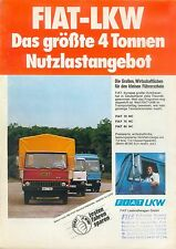 Fiat LKW 4 Tonnen Nutzlast Prospekt 70er J. brochure
