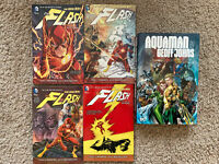 Flash Graphic Novel lot TPB Vol 1 2 3 4 New 52 Aquaman Johns Omnibus Batman DC