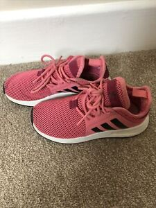 Girls Pink Adidas Trainers Size 11