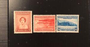 Stamps Canada Newfoundland Sc208 - Sc210 additional definitive  see description