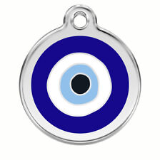 Evil Eye Engraved Dog / Cat ID identity Tags / discs by Red Dingo (1EE)