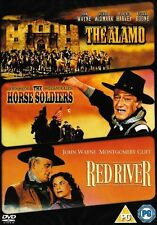 THE ALAMO HORSE SOLDIERS RED RIVER JOHN WAYNE 3 DISC BOX SET MGM UK R2 DVD L NEW