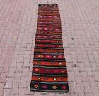 Traditional Antique Cappadocia Kilim Runner Rug Vintage Handmade Carpet 3x10 ft