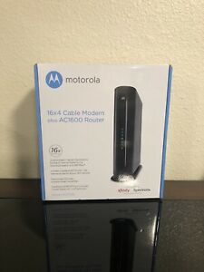 Brand New! Motorola MG7540 Cable Modem Plus Router 16x4 686 Mbps + AC1600 Wi-Fi