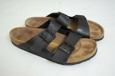 Men's Birkenstock Black Sandals Shoes Size 42 USA 9