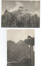 Two Large 1940s Photos of Seoul South Korea Highest Mountain Peak & View