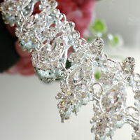 Crystal Bridal Applique Dance Jewel Diamante Rhinestone Motif Sew on Chic Luxury