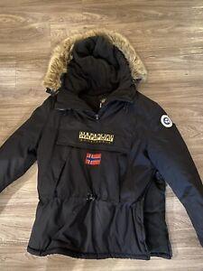 Napapijri Italian Designed Jacket Unisex Hooded Ski Pullover NWT Size Lg