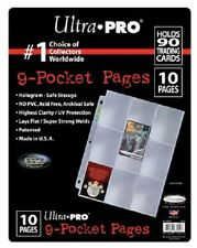 ULTRA PRO 9-Pocket Platinum Page for Standard Size Cards (10-Pack) NEW sleeves