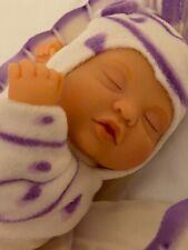 Anne Geddes Newborn Baby Butterfly Doll in Egg, 2007 Rare Purple