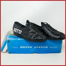 NOS DETTO PIETRO CYCLING LEATHER SHOES SIZE 36 AFTER RACE VINTAGE ITALY 70s 80s