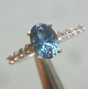 7x5MM AAA Natural Faceted Aquamarine 925 Sterling Silver Nice And Beautiful Ring