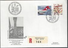 1987 Switzerland  FDC Swissair