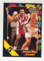 JEROME MINCY 1991-92 Wild Card NCAA 5 Stripe Parallel #100 UAB Mint