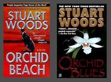 Orchid Beach & Orchid Blues: Holly Barker #1 & 2 - Stuart Woods 2x paperbacks GC