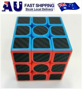 New 3x3x3 Carbon Fibe professional Speed Magic Rubiks Cube Smooth Puzzle