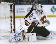 Karri Ramo Hockey Flames Signed Auto 8x10 PHOTO COA