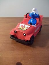 VINTAGE 1982 GALOOB SMURFS SPARKING RED FUN BUGGY/CAR LIGHTS FLASHING ACTION