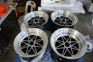 """For 114.3 AE86 Datsun ta22 01 03 240z Z31 s30 JDM Retro 15"""" staggered wheels rim"""