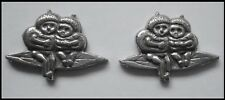 PEWTER CHARM #2029 x 2 LITTLE BABIES on GUMNUT LEAF (22mm x 15mm) no bail / hole